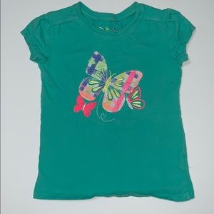 Jumping Beans short sleeve butterfly shirt, 4T
